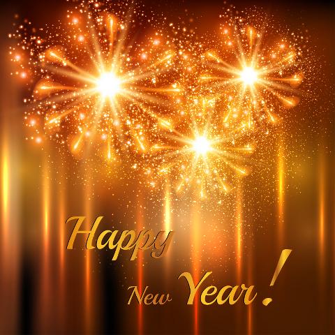 Happy New Year Orange 50